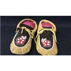 Woodlands Moccasins 1950s Elk Hide