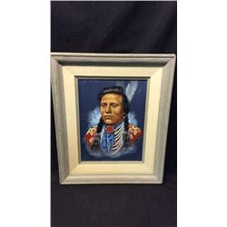 Curley Done For Iron Eyes Cody. Crow Scout By J.