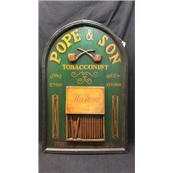 Pope & Son Tobacconist Advertising Sign
