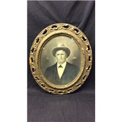 Early Antique Photo in Antique Oval Frame