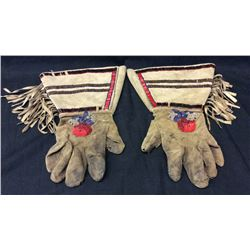 Nez Perce Beaded Gauntlets