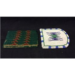 Beaded Wallet and Belt Patch 1940s