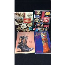 4 Cowboy Boot and Hat Books