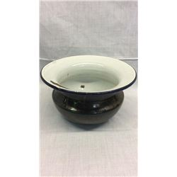 Green Enamel Spittoon