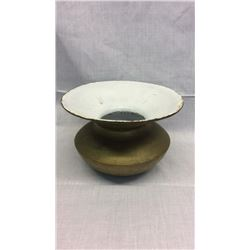 Gold Cast Iron Spittoon