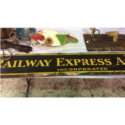 Railway Express Enamel Sign 6ft