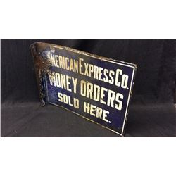 American Express Enamel Double Sided Sign
