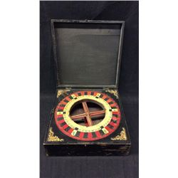 Antique Travelers Gambling Wheel