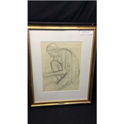 Joseph Adam Imhoff Pencil Drawing ca 1930