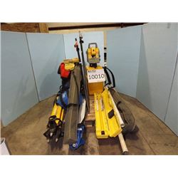 Total Station, Magnetic Locator, Leveling Rod
