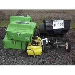 SPREADER, SPRAYER Soil Packer, Fertilizer Spreader, Eyewash Station, Sprayer