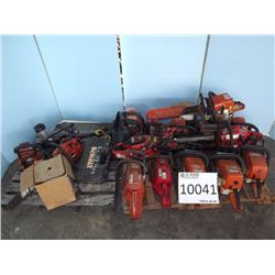 Misc. Chain saws, Sharpener, Drills