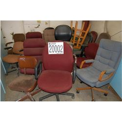 AREA 2 MISC. OFFICE CHAIRS