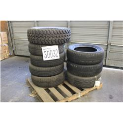 Truck Tires: 2 each - 225 60R17 Fuzion Touring, 4 each - 225 60R17 Goodyear Integrity, 1 each - 225