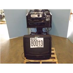 TV/VCR Combo, Media Projection Cart