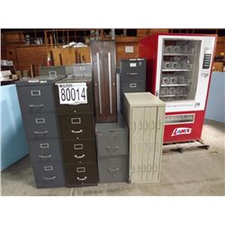 Misc. File Cabinets, Vending Machine
