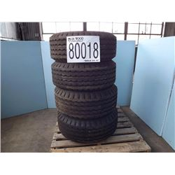 Tires : 4 each - 11L-16E Regular Tread