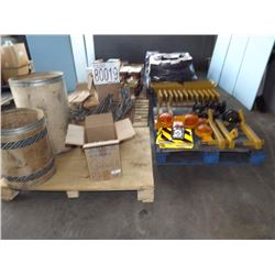Misc. Rubber Aprons, Axle Arm, Rubber Guard Rail Block, Nuts, Bolts, Lights