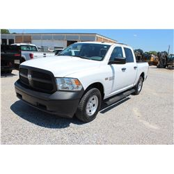 2015 DODGE 1500 Pickup Truck SN:3C6RR7KT0FG624986 --4x4, crew cab, V8 gas, A/T, AC, odometer reading