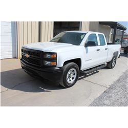 2015 CHEVROLET 1500 Pickup Truck SN:1GCRCPEC7FZ210433 -- ext. cab, V8 gas, A/T, AC, odometer reading