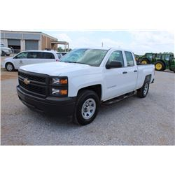 2015 CHEVROLET 1500 Pickup Truck SN:1GCRCPEC8FZ211168 --ext. cab, V8 gas, A/T, AC, odometer reading