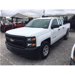 2015 CHEVROLET 1500 Pickup Truck SN:1GCRCPEC1FZ207799 --ext. cab, V8 gas, A/T, AC, odometer reading
