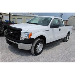 2014 FORD F150 Pickup Truck SN:1FTFX1EF0EKD94507 --4x4, ext. cab, V8 gas, A/T, AC, odometer reading