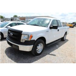 2014 FORD F150 Pickup Truck SN:1FTEX1CM8EFA85308 --ext. cab, V6 gas, A/T, AC, odometer reading 48,35