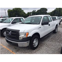 2014 FORD F150 Pickup Truck SN:1FTEX1CM6EFB18287 --ext. cab, V6 gas, A/T, AC, odometer reading 51,61