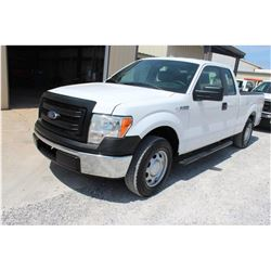 2014 FORD F150 Pickup Truck SN:1FTEX1CM9EFA85317 --ext. cab, V6 gas, A/T, AC, odometer reading 56,29