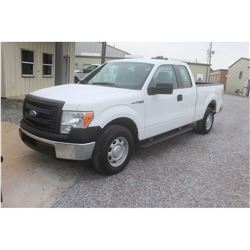 2014 FORD F150 Pickup Truck SN:1FTEX1CM5EFC09633 -- ext. cab, V6 gas, A/T, AC, odometer reading 59,4