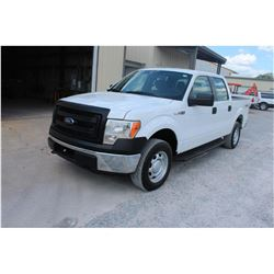 2013 FORD F150 Pickup Truck SN:1FTFW1EFXDKF06022 --4x4, crew cab, V8 gas, A/T, AC, odometer reading