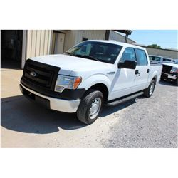 2013 FORD F150 Pickup Truck SN:1FTEW1CM7DFC43901 -- crew cab, V6 gas, A/T, AC, odometer reading 62,6
