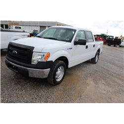 2013 FORD F150 Pickup Truck SN:1FTEW1CM9DFB46425 --crew cab, V6 gas, A/T, AC, odometer reading 72,36