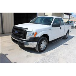 2013 FORD F150 Pickup Truck SN:1FTEX1CM0DFC14107 --ext. cab, V6 gas, A/T, AC, odometer reading 50,92