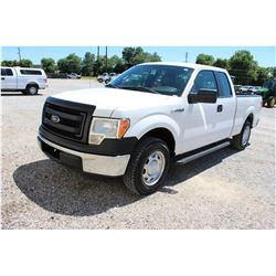 2013 FORD F150 Pickup Truck SN:1FTEX1CM9DFC14090 --ext. cab, V6 gas, A/T, AC, odometer reading 54,92