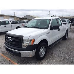2013 FORD F150 Pickup Truck SN:1FTEX1CM4DKE99689 --ext. cab, V6 gas, A/T, AC, odometer reading 55,10