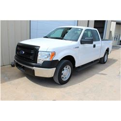 2013 FORD F150 Pickup Truck SN:1FTEX1CM7DFC14119 --ext. cab, V6 gas, A/T, AC, odometer reading 58,01