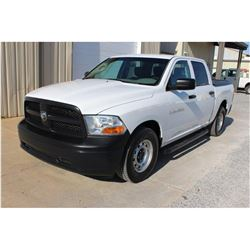 2012 DODGE R1500 Pickup Truck SN:1C6RD6KP7CS262056 --crew cab, V8 gas, A/T, AC, odometer reading 74,