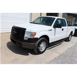 2012 FORD F150 Pickup Truck SN:1FTEX1CM7CFB27111 --ext. cab, V6 gas, A/T, AC, odometer reading 48,93