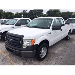 2012 FORD F150 Pickup Truck SN:1FTEX1CM5CFB27110 --ext. cab, V6 gas, A/T, AC, odometer reading 55,72