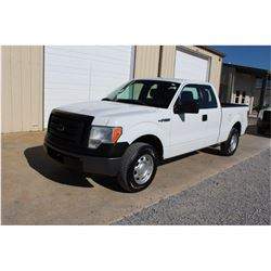2012 FORD F150 Pickup Truck SN:1FTEX1CM3CFB27087 --ext. cab, V6, A/T, AC, odometer reading 56,408 mi