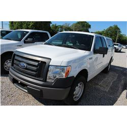 2012 FORD F150 Pickup Truck SN:1FTEX1CMXCFB27099 --ext. cab, V6, A/T, AC, camper, odometer reading 7