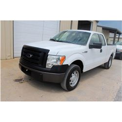 2012 FORD F150 Pickup Truck SN:1FTEX1CM5CFB36759 --ext. cab, V6 gas, AC, odometer reading 81,636 mil