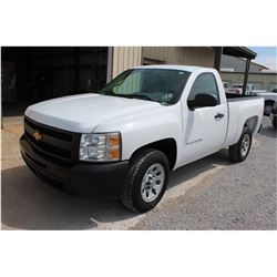 2012 CHEVROLET 1500 Pickup Truck SN:1GCNCPEA4CZ321188 --V8 gas, A/T, AC, odometer reading 45,291 mil