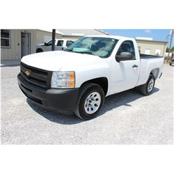 2012 CHEVROLET 1500 Pickup Truck SN:1GCNCPEA3CZ293433 --V8 gas, A/T, AC, odometer reading 54,943 mil