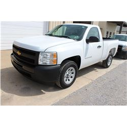 2011 CHEVROLET 1500 Pickup Truck SN:1GCNCPEA8BZ409661 --V8 gas, A/T, AC, odometer reading 64,135 mil