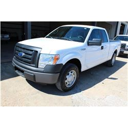 2011 FORD F150 Pickup Truck SN:1FTEX1CM0BFB46890 --ext cab, V6 gas, A/T, AC, odometer reading 48,430