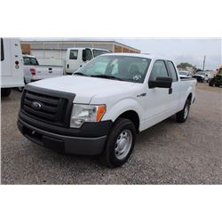 2011 FORD F150 Pickup Truck SN:1FTEX1CM5BFB17823 --ext. cab, V6 gas, A/T, AC, odometer reading 60,73