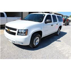 2012 CHEVROLET SURBURBAN SUV SN:1GNWK5EG1CR310074 -- 4x4, V8 gas, A/T, AC, odometer reading 133,701
